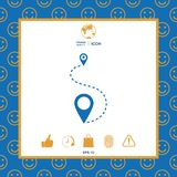 Location Icon symbol. Location Icon . Signs and symbols - graphic elements for your design Royalty Free Stock Photos