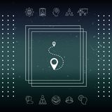 Location Icon symbol. Signs and symbols - graphic elements for your design Royalty Free Stock Photography