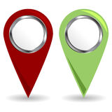 Location icons Royalty Free Stock Photography