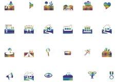 Location icons Royalty Free Stock Photos