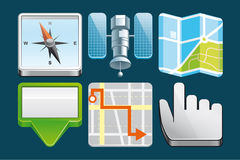 Location  icons Stock Photography