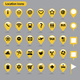 Location icons. Map icons set , vector illustration Stock Images