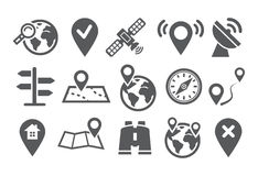 Location Icons Stock Image