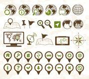 Location icons military style Royalty Free Stock Photos