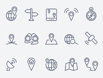 Location icons stock illustration