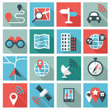 Location icons Stock Photo