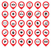 Location Icons. Royalty Free Stock Image