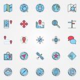 Location icons set Royalty Free Stock Image