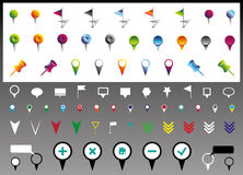 Location icons. Vector set of location icons Royalty Free Stock Photography
