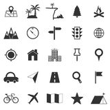Location icons on white background Royalty Free Stock Images