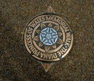 Location indicator to the Princess Diana Memorial Stock Images