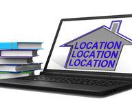 Location Location Location House Laptop Means Best Area And Idea Stock Images