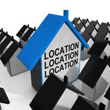 Location Location Location House Means Situated Royalty Free Stock Photography