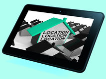 Location Location Location House Tablet Means Situated Perfectly Royalty Free Stock Photos