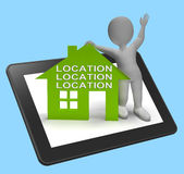 Location Location Location House Tablet Shows Perfect Property A Royalty Free Stock Photo