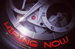 Location maintenant sur le mécanisme automatique de montre d'hommes 3d Photo stock