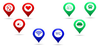 Location map icons Royalty Free Stock Images