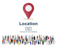 Location Marker Point Map Navigation Concept Stock Images