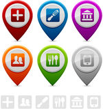 Location Markers. Location marker symbol collection markers Stock Images