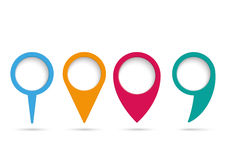 4 Location Markers Infographic PiAd Royalty Free Stock Photos