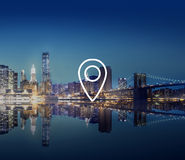 Location Navigation Destination Journey Position Concept Stock Photography