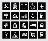 Location & Navigation Icons Royalty Free Stock Photography