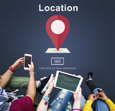 Location Navigation Information Direction Destination Concept Royalty Free Stock Photos