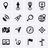 Location, Navigation and Map Icons Stock Photos