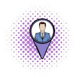 Location people comics icon Stock Photography