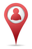 Location people icon royalty free illustration