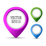 Location pin button Royalty Free Stock Photo