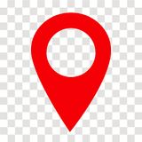 Location pin icon on transparent. location pin sign. flat style. Red location pin symbol. map pointer symbol. map pin sign vector illustration