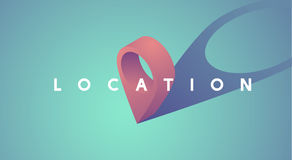 Location Pointer Icon Graphic Vector Illustration. Location icon is showing your current location Royalty Free Stock Photo