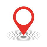 Location pointer isolated icon Stock Photos