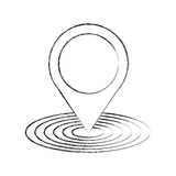Location pointer isolated icon Stock Photo
