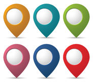 Location pointers Royalty Free Stock Photography