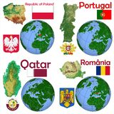 Location Poland,Portugal,Qatar,Romania Stock Photography
