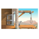 Location of prison and scaffold in Wild West Stock Photos
