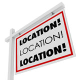 Location Real Estate Sign Desirable Spot Place Royalty Free Stock Images