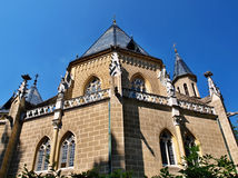 The Location of the Schwarzemberg tomb, Czech Republic. The neo-gothic Schwarzenberg family tomb is one of the most interesting architectural monuments in South Royalty Free Stock Photo