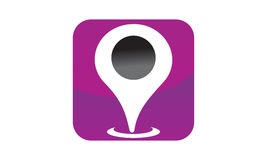 Location Search Solutions. Logo vector illustration, can be used for any purpose Royalty Free Stock Photography