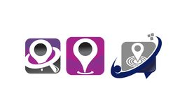 Location Search Solutions Set. Vector Royalty Free Stock Photos