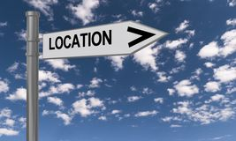 Location sign Royalty Free Stock Photo