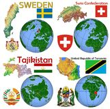 Location Sweden,Switzerland,Tajikistan,Tanzania Stock Photography