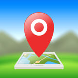Location symbol, application for smartphones Royalty Free Stock Photos