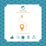 Location symbol Icon. Graphic element for your design Royalty Free Stock Photos