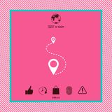 Location symbol Icon. Graphic element for your design Royalty Free Stock Images