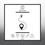 Location symbol Icon. Sings, symbols - graphic elements for your design Royalty Free Stock Images