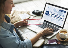 Location Travel Navigation Journey Search Concept Royalty Free Stock Images
