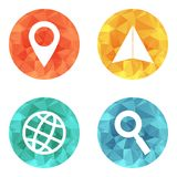 Location travelling icons Stock Images